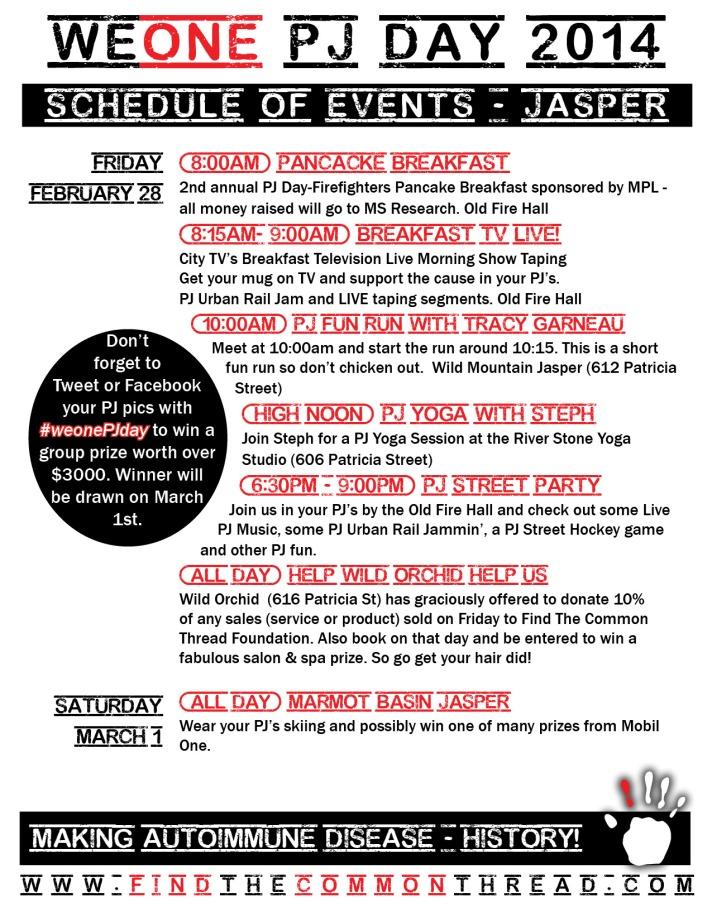 2014 Schedule of Events