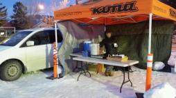 Lynn and the gang from Co-co's served up warm chili and hot cocoa for the brave.