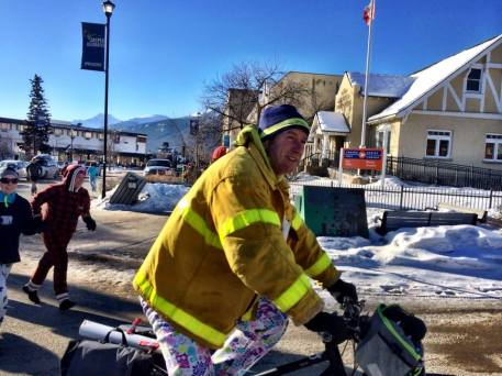 Fire Chief on a PJ Run, leading.